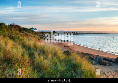The beach at Crow Point at Braunton Burrows near Barnstaple on the Devon coastline - Stock Photo
