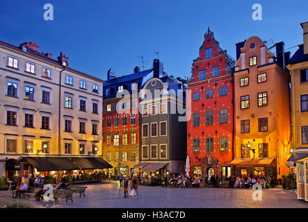 Stortorget square in Gamla Stan, the 'old town' of Stockholm, Sweden. - Stock Photo