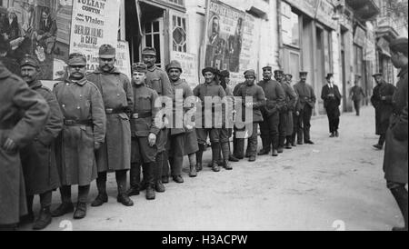 Cinema for soldiers in the First World War, 1918 - Stock Photo