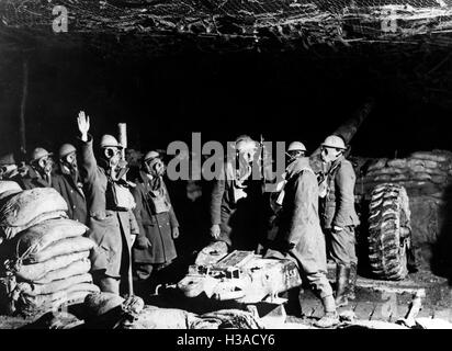 British artillery in France, 1939 - Stock Photo