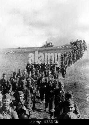 Marching column of the Wehrmacht on the Eastern Front, 1941 - Stock Photo