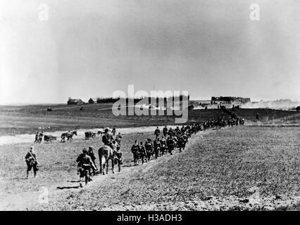 German troops on the advance in the East, 1941 - Stock Photo