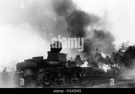 German tank on the Eastern Front, 1941 - Stock Photo