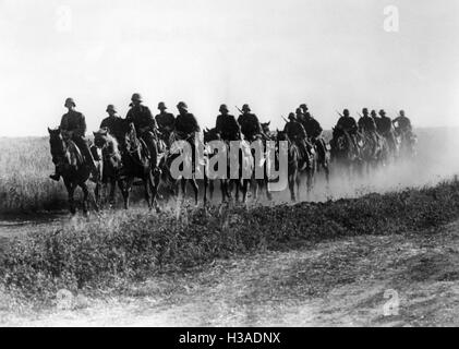 German cavalry on the Eastern Front, 1941 - Stock Photo