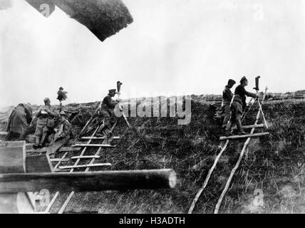 Artillery observers of the Wehrmacht on the Eastern Front, 1941 - Stock Photo