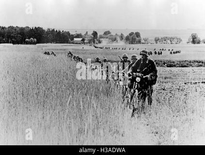 Wheeled division of the Wehrmacht on the Eastern Front, 1941 - Stock Photo