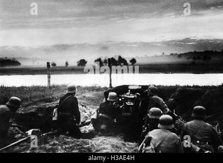 German anti tank position at the beginning of the Russian campaign, 1941 - Stock Photo