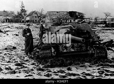 Shot down Soviet tanks during the fighting in East Prussia, 1945 - Stock Photo
