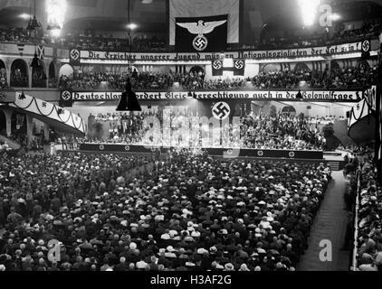 Commemorative ceremony in the Berlin Sportpalast, 1933-1939 - Stock Photo