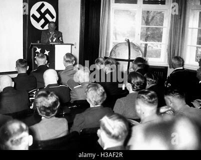 Franz Ritter von Epp in the Kolonialpolitisches Schulungshaus (Colonial Political Training House) in Ladeburg-Bernau, - Stock Photo