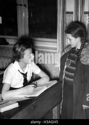 Enrollment in the BdM, Berlin 1937 - Stock Photo