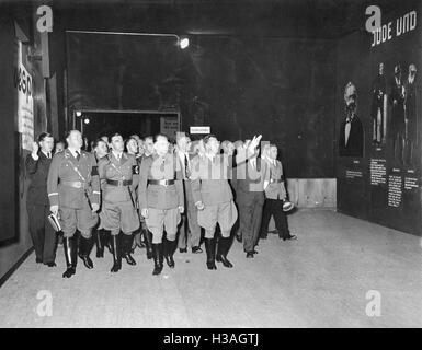'Opening of the exhibition ''The Eternal Jew'', 1938' - Stock Photo