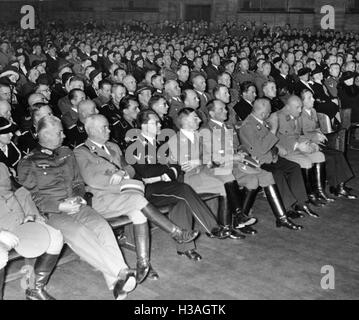 'Audience at the opening of the exhibition ''The Eternal Jew'', 1937' - Stock Photo