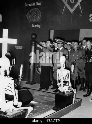 'Guests of honor at the exhibition ''The Eternal Jew'', 1937' - Stock Photo