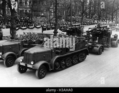 Military parade in honor of the birthday of Adolf Hitler, 1937 - Stock Photo