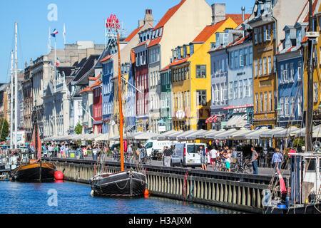Colorful scandinavian architecture in Copehnagen Denmark - Stock Photo