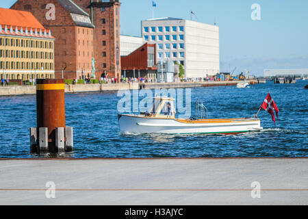 City center in Copenhagen greater area during warm spring day - Stock Photo