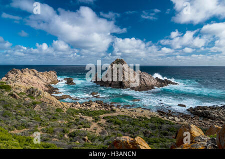 Sugarloaf Rock, just off the south coast of Western Australia - Stock Photo