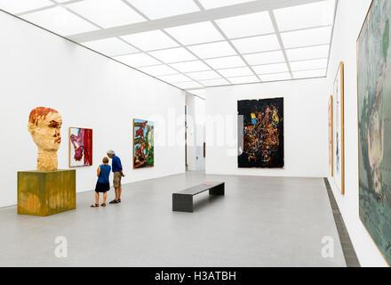 Interior of the Pinakothek der Moderne (Museum of Modern Art), Munich, Bavaria, Germany - Stock Photo
