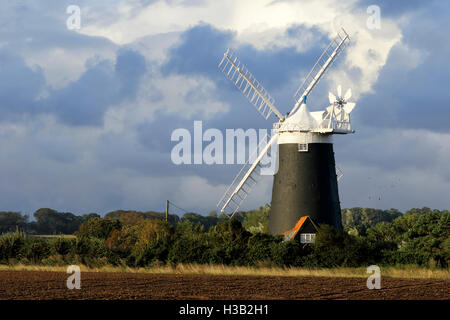 Burnham Overy Staithe Tower mill - Stock Photo