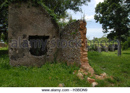 Cuban places: Historic ruins of Trocha Mariel Majana, National Monument - Stock Photo