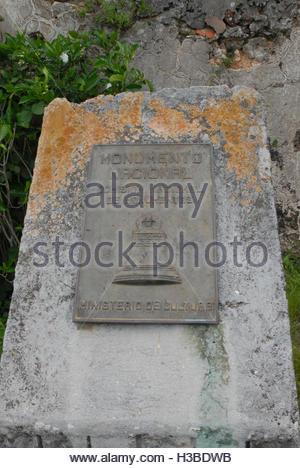 Cuban places: Historic ruins of Trocha Mariel Majana, National Monument - Stock Photo