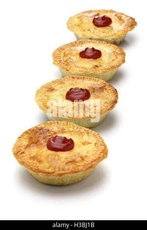 homemade aussie meat pie, close up - Stock Photo