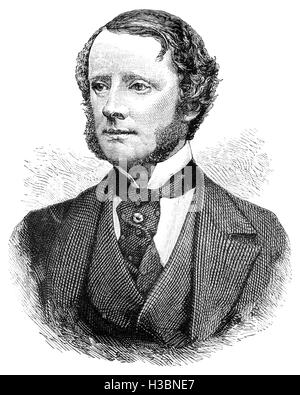 Chichester Samuel Parkinson-Fortescue, 1st Baron Carlingford (1823 – 1898), known as Chichester Fortescue  1874 - Stock Photo