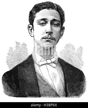 Napoléon, Prince Imperial (full name: Napoléon Eugène Louis Jean Joseph Bonaparte (1856 – 1879) was the only child - Stock Photo