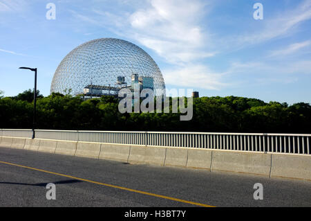 The Montreal Biosphère - a museum dedicated to the environment - at Parc Jean-Drapeau, on Saint Helen's Island in - Stock Photo