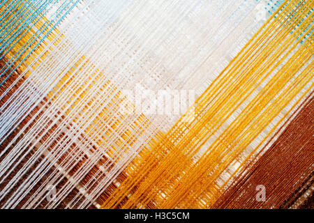 bright abstract background of colored thread intersecting diagonally - Stock Photo