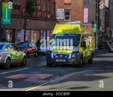 Emergency Ambulance, Liverpool, Merseyside, UK
