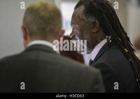 Guest speaker Levi Roots at a Let's do Business exhibition in Hastings. England. UK - Stock Photo