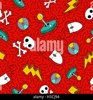 Computer mouse icon seamless pattern background  Business