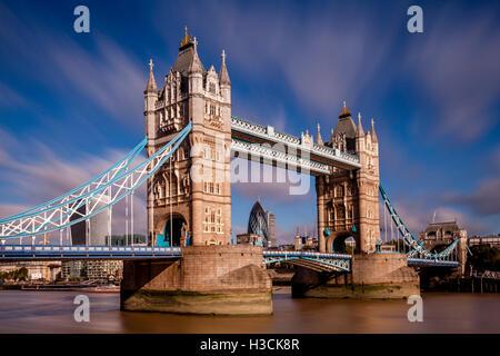 Tower Bridge and River Thames, London, England