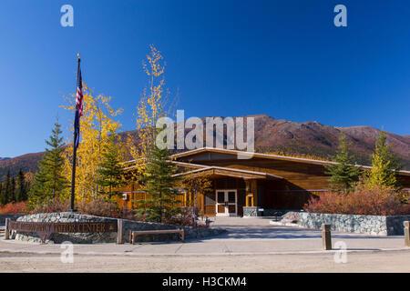Arctic Interagency Visitor Center, Dalton Highway, Alaska. - Stock Photo