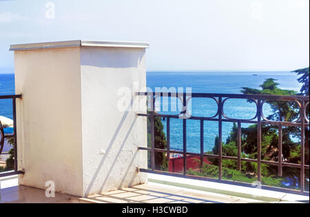 Nice summer sunny sea view from terrace - Stock Photo