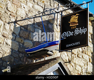 The sign of the Olde Ship Inn - Stock Photo