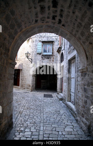 Trogir  Croatia old medieval town - Stock Photo