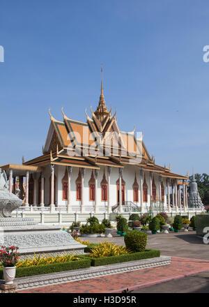 Royal Palace complex in Phnom Penh ,Cambodia. - Stock Photo