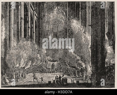 SECOND PART OF THE GRAND CEREMONIES AT NOTRE DAME IN PARIS - Stock Photo
