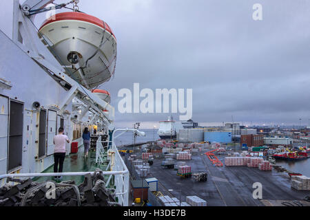 Ferry boats from P&O North Sea Ferries in the port of Hull at Kingston upon Hull, England, UK - Stock Photo