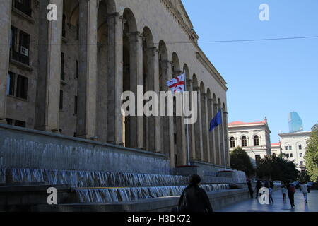Tbilisi, Georgia. 27th Sep, 2016. The parliament building in the centre of Tbilisi, Georgia, 27 September 2016. - Stock Photo
