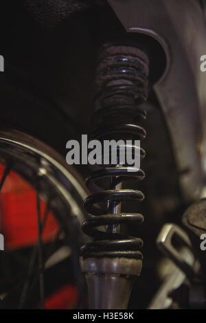 Shock absorber of motorbike - Stock Photo