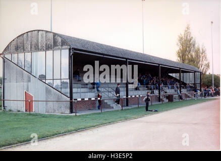 Southchurch Park Arena, home to Southend Manor Football Club (Essex), pictured in 1992 - Stock Photo