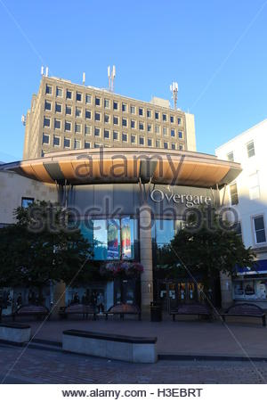 Exterior of Overgate Shopping Centre Dundee Scotland  October 2016 - Stock Photo
