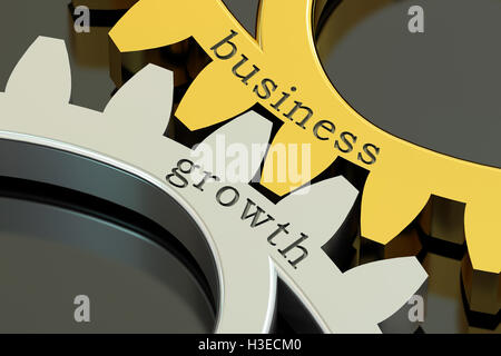 Business Growth concept on the gearwheels, 3D rendering - Stock Photo
