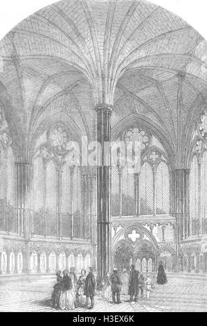 WILTS Chapter House, Salisbury Cathedral, restored 1856. Illustrated London News - Stock Photo