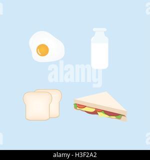 Breakfast Design Set Vector Illustration - Stock Photo