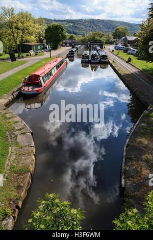 Trevor Basin, Llangollen Canal, Denbighshire, Wales - Stock Photo